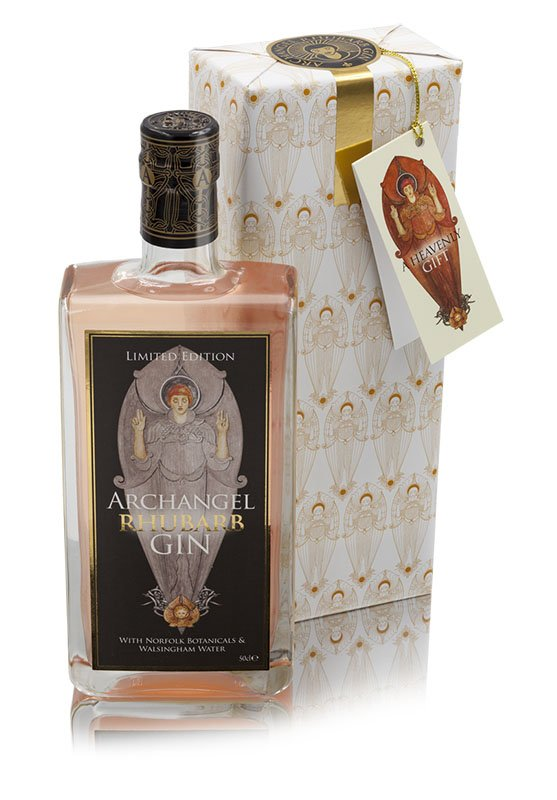 Archangel Gin 50cl Rhubarb with box wrapped